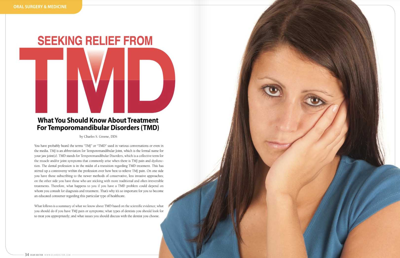 Seeking Relief From TMD